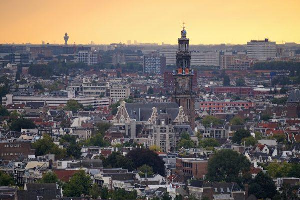 Amsterdam von oben.